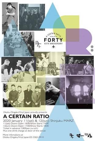 Eikoku-Ongaku/Vinyl Japan proudly present A Certain Ratio live in Japan 2020