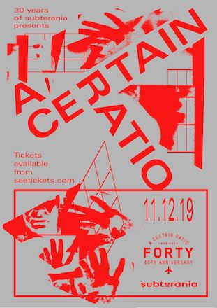 A Certain Ratio live @ Subterania 11 December 2019