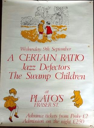 A Certain Ratio live @ Plato's, Liverpool 1981 - original gig poster