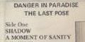 Danger In Paradise/The Last Pose Cassette LP
