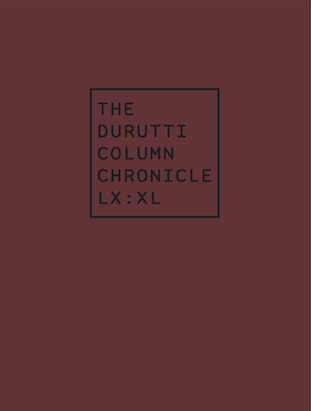 The Durutti Chronicle LX:XL Kooky presale