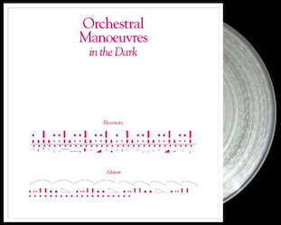 Orchestral Manoeuvres in the Dark 'Electricity' clear vinyl 7-inch single