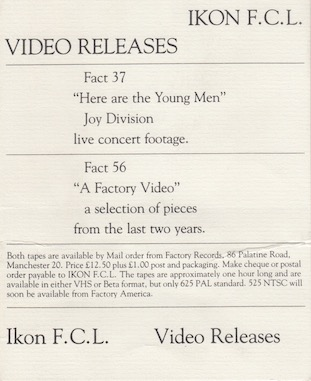 FACT 37 Joy Division 'Here Are The Young Men'