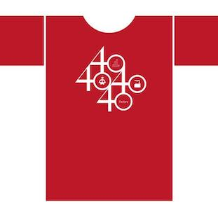 Factory 40th Anniversary T-Shirt out now via Vinyl Revival