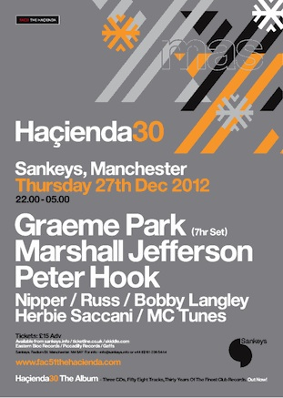 Hacienda 30: The Christmas Party @ Sankeys