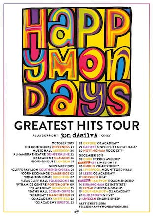 Happy Mondays live @ Baths Hall, Scunthorpe 16 Nov 2019