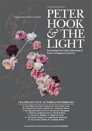 Peter Hook and The Light UK Tour 2013