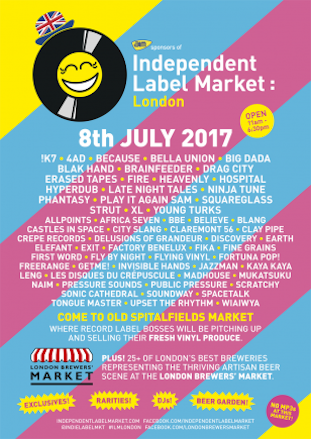 Independent Label Market @ Spitalfields 8 July 2017