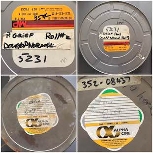 New Order - Round and Round - original film reels