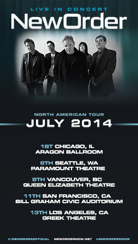 New Order North American Tour 2014