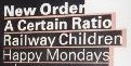 New Order / A Certain Ratio / Railway Children / Happy Mondays gig at the Finsbury Park supertent 1987