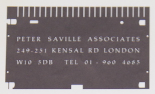 Peter Saville Associates stationery and bill