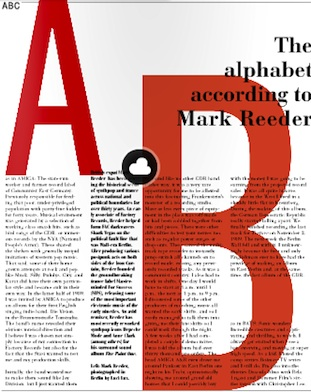 The alphabet according to Mark Reeder