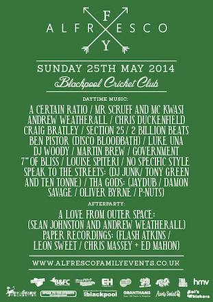Section 25 live @ Alfresco, Blackpool, May 2014