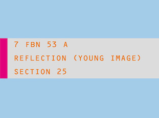 Section 25 - Reflection (Young Image) 7 FBN 53