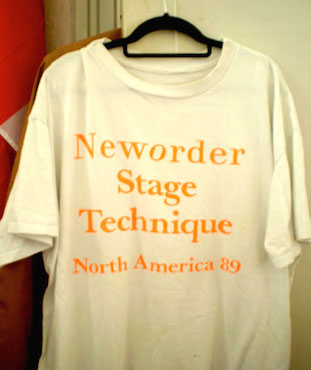 New Order - USA 89 T-Shirt - Stage Technique