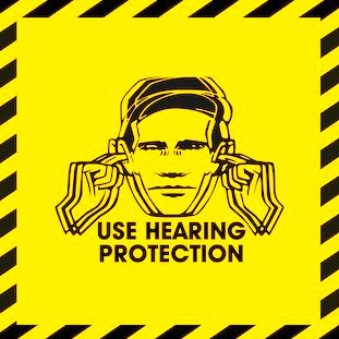 Use Hearing Protection - Fac 1-50 / 40 exhibition
