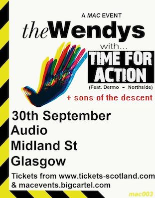 The Wendys live at Audio Glasgow 30 September 2017