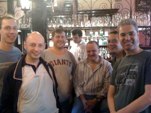 Dodgers celebrate in the pub