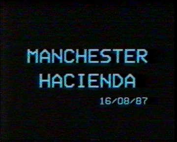The Durutti Column in rehearsal at FAC 51 The Hacienda on 16 August 1987; opening credits: