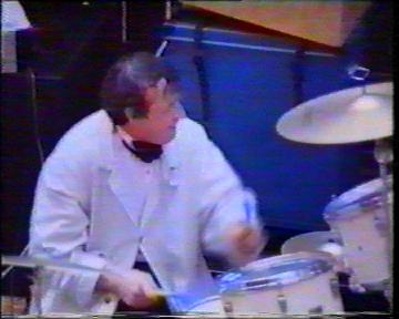 The Durutti Column in rehearsal at FAC 51 The Hacienda on 16 August 1987; Bruce Mitchell on drums