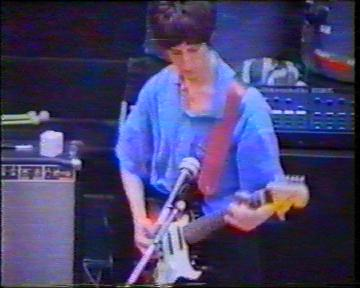 The Durutti Column in rehearsal at FAC 51 The Hacienda on 16 August 1987; Vini Reilly on guitar