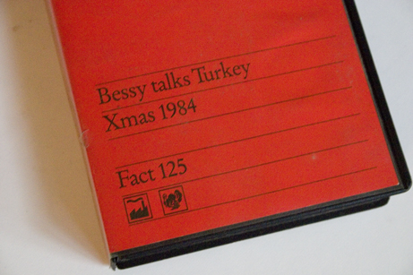 FACT 125 Bessy Talks Turkey; front cover detail