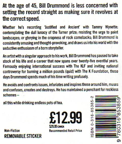 45 by Bill Drummond - back cover sticker