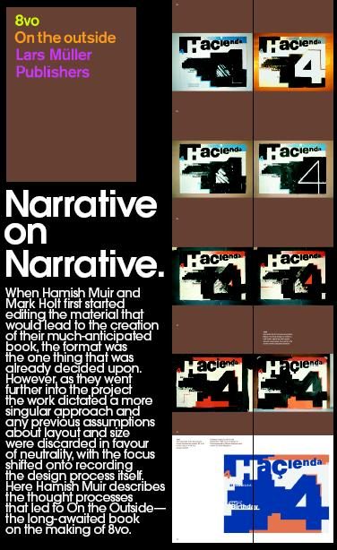 Grafik magazine #133 - 'Narrative on Narrative' article by Hamish Muir; article detail