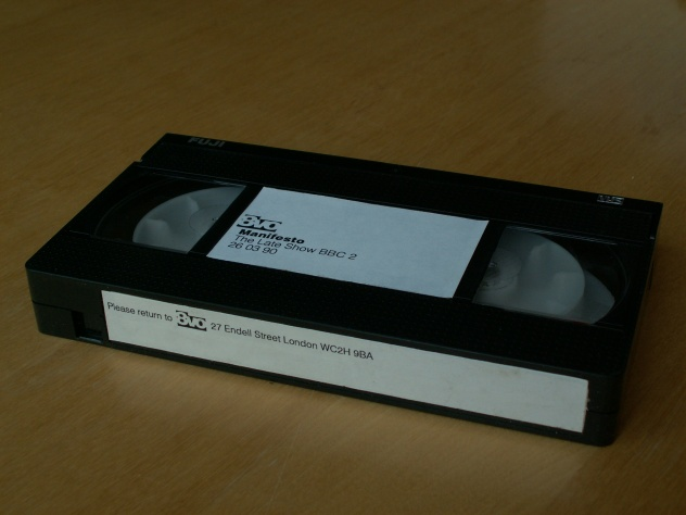 The Late Show on 8vo Design; official 8vo VHS cassette