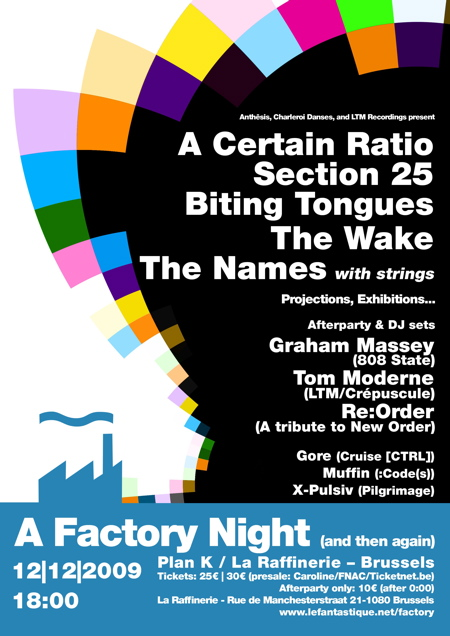 A Factory Night (And Then Again), Plan K, Brussels, 12 December 2009; poster