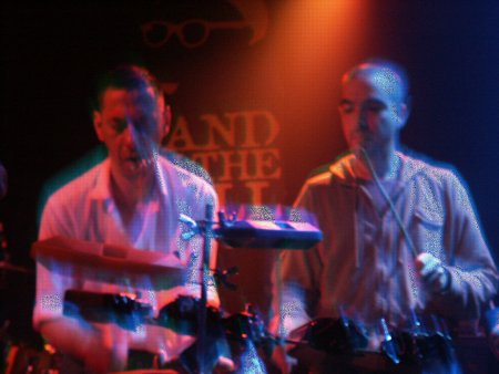 A Certain Ratio live at The Band On The Wall, 3 April 2004 - Jez Kerr and Liam on  percussion