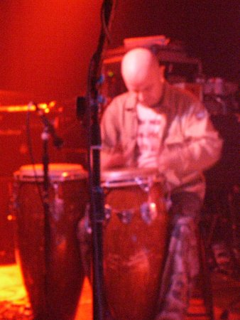 A Certain Ratio  live at The Band On The Wall, 3 April 2004 - Martin Moscrop on congas