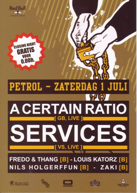 A Certain Ratio - Petrol, Antwerp, Saturday 1 July 2006; flyer