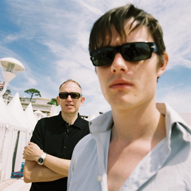 Anton Corbijn and Sam Riley on the roof of the Hilton Hotel at the Cannes Film Festival 2007 [photo © Richard Bellia]