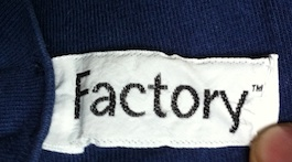 Factory Records Clothing Tag