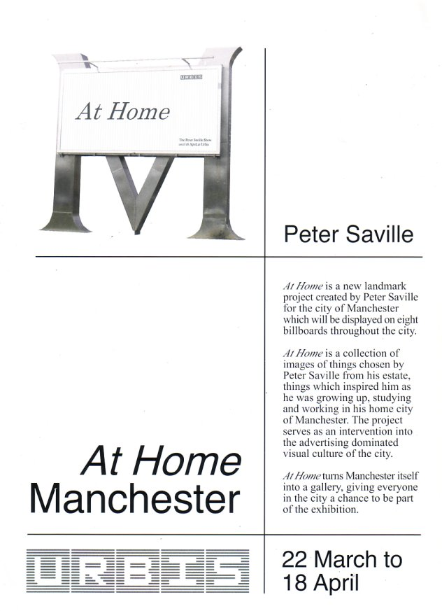 Peter Saville - At Home; flyer