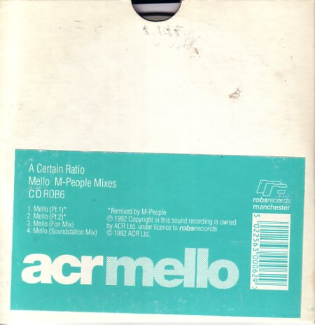 CD ROB6 Mello (M-People Mixes); front cover detail