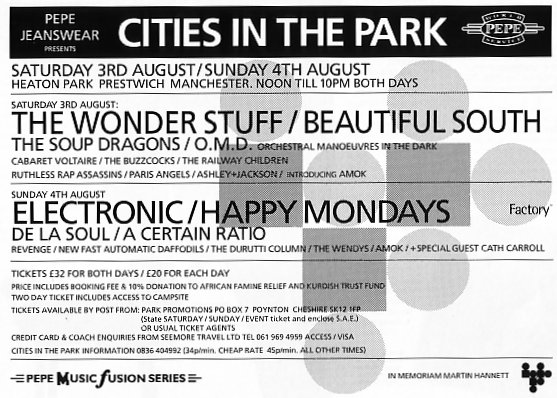 Cities in The Park advert