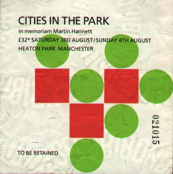 Cities in The Park ticket