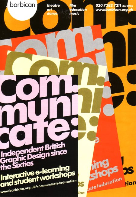 Communicate: Independent Graphic Design Since The Sixties; flyer