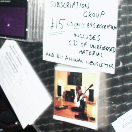Faith: The Durutti Column Subscription Service CD 2004; as displayed at the Liverpool 8 May 2004 gig