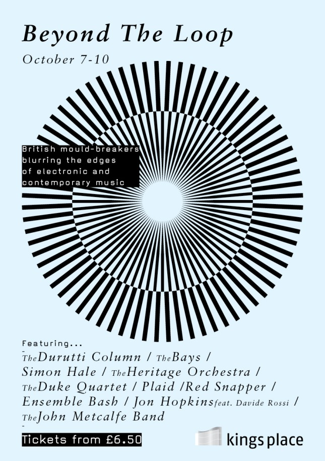The Durutti Column live - Beyond The Loop, 9 October 2009; flyer