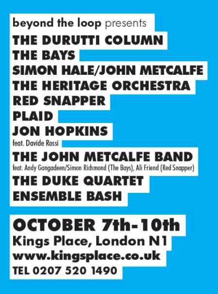 The Durutti Column live - Beyond The Loop, 9 October 2009; advert in Time Out