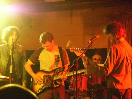The Durutti Column - Liverpool Academy 2, 8 May 2004; [L-R] Rachel McFarlane, Keir Stewart, Bruce Mitchell and Vini Reilly