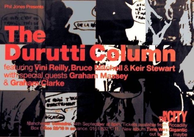 Poster for Durutti Column live at Manchester Cathedral, 24 September 1998