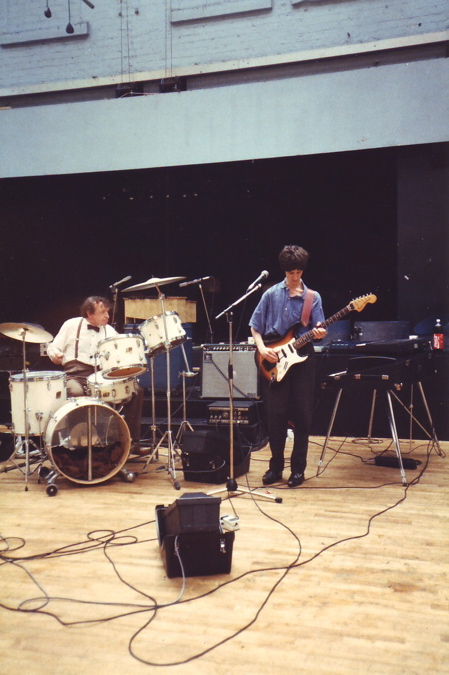 The Durutti Column in rehearsal at FAC 51 The Hacienda [Bruce Mitchell and Vini Reilly]