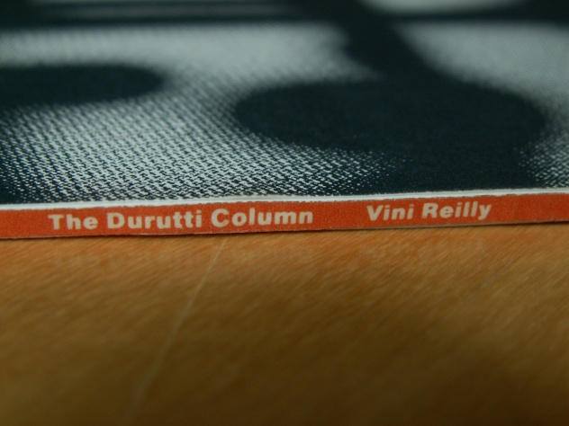 Fact 244 Vini Reilly; alternate abandoned 8vo artwork - spine detail [2]