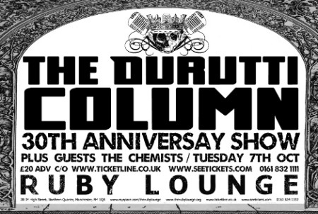 The Durutti Column live - Ruby Lounge, Manchester, Tuesday 7 October 2008