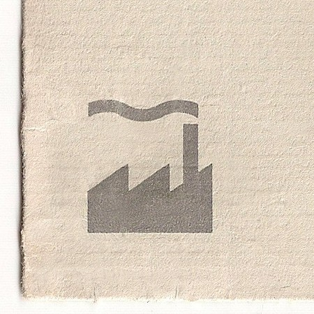 FAC 115 Second Generation Factory Records Stationery; envelope [detail]